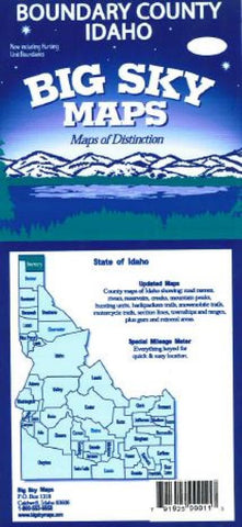 Buy map Boundary County, Idaho by Big Sky Maps