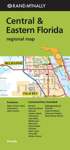 Buy map Florida, Central and Eastern Regional by Rand McNally