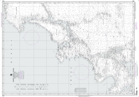 Buy map North Pacific Ocean - Western Part (NGA-522-87) by National Geospatial-Intelligence Agency