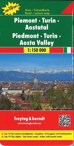 Buy map Piemonte and Valle dAosta, Italy by Freytag-Berndt und Artaria