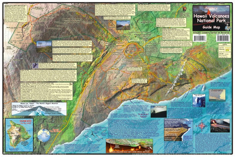 Buy map Hawaii Map, Hawaii Volcanoes, laminated, 2009 by Frankos Maps Ltd.