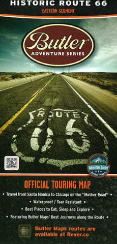 Buy map Route 66, East by Butler Motorcycle Maps