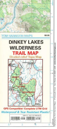 Buy map Dinkey Lakes Wilderness, California Trail Map by Tom Harrison Maps