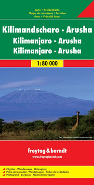 Buy map Kilimanjaro and Arusha, Tanzania by Freytag-Berndt und Artaria