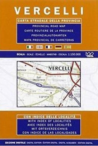 Buy map Vercelli Province, Italy by Litografia Artistica Cartografica