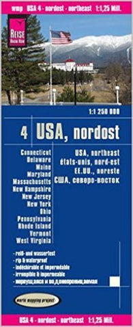 Buy map United States, Northeast by Reise Know-How Verlag