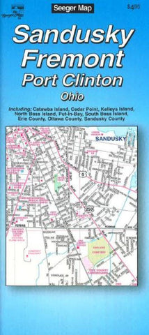 Buy map Sandusky, Fremont and Port Clinton, Ohio by The Seeger Map Company Inc.