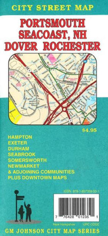 Buy map Portsmouth, Dover, Rochester and New Hampshire Coast Beaches by GM Johnson