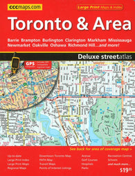Buy map Toronto and Area Deluxe Street Atlas by Canadian Cartographics Corporation