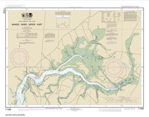 Buy map Wando River Upper Part (11526-11) by NOAA