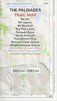 Buy map Palisades, California by Tom Harrison Maps