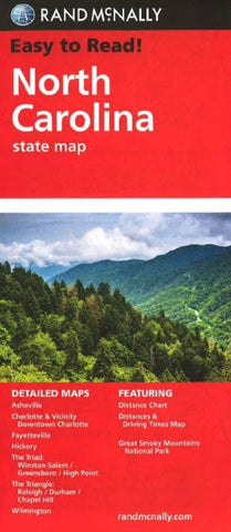 Buy map North Carolina by Rand McNally