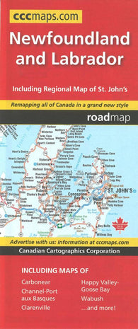 Buy map Newfoundland and Labrador Road Map by Canadian Cartographics Corporation