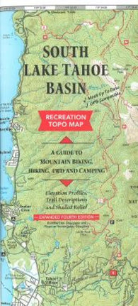 Buy map Lake Tahoe Basin, California and Nevada, South by Fine Edge
