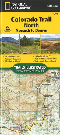 Buy map Colorado Trail North, Map 1202 by National Geographic Maps