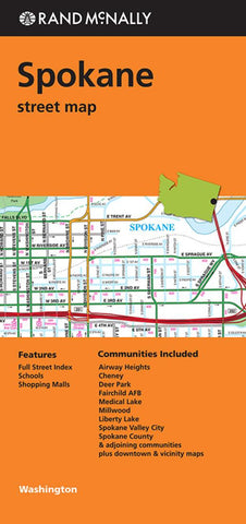 Buy map Spokane, Washington by Rand McNally