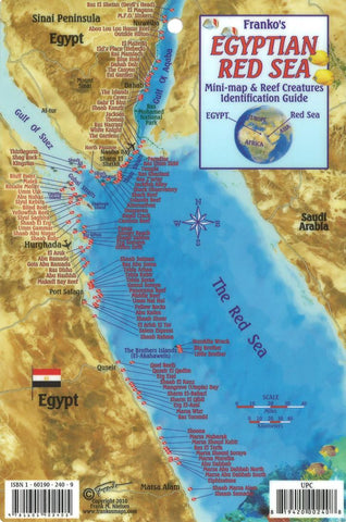 Buy map Egyptian Red Sea Mini map and Reef Creatures Identification Guide by Frankos Maps Ltd.
