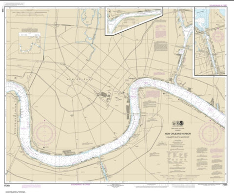 Buy map New Orleans Harbor Chalmette Slip to Southport (11368-25) by NOAA
