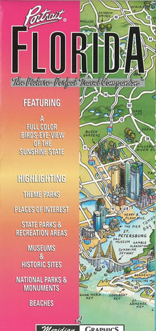 Buy map Florida Portrait by Meridian Graphics