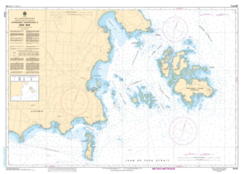 Buy map Approaches to/Approches a Oak Bay by Canadian Hydrographic Service