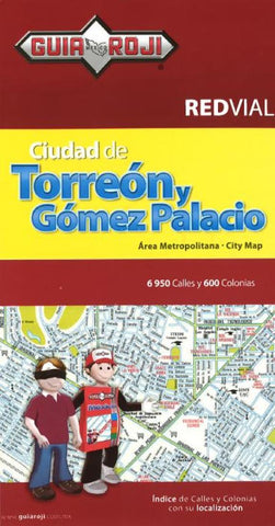 Buy map Torreon and Gomez Palaciot, Mexico by Guia Roji