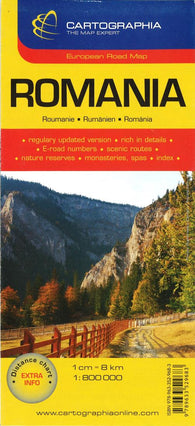 Buy map Romania by Cartographia