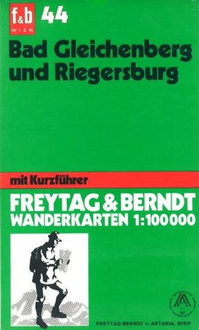 Buy map Bad Gleichenberg and Riegersburg by Freytag-Berndt und Artaria