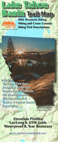 Buy map Lake Tahoe Basin Trail Map by Adventure Maps
