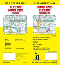 Buy map South Bend, Elkhart and Mishawaka, Indiana by GM Johnson