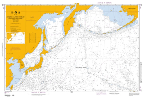 Buy map North Pacific Ocean (Northwestern Part) (NGA-53-2) by National Geospatial-Intelligence Agency