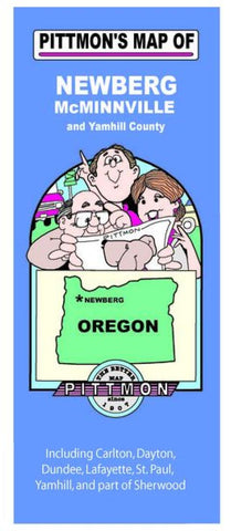 Buy map Newberg, McMinnville and Yamhill County, Oregon by Pittmon Map Company