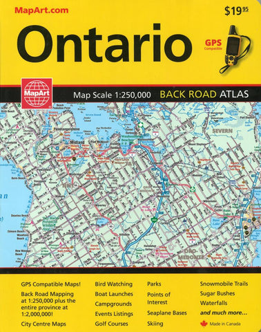 Buy map Ontario, Back Road Atlas by Canadian Cartographics Corporation, MapArt Corporation