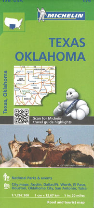 Buy map Texas and Oklahoma (176) by Michelin Maps and Guides