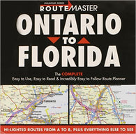 Buy map Ontario to Florida Drop Down by Route Master