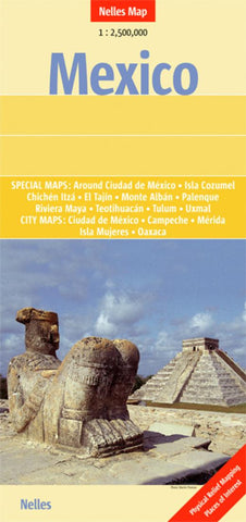 Buy map Mexico, Guatemala, Belize and El Salvador by Nelles Verlag GmbH