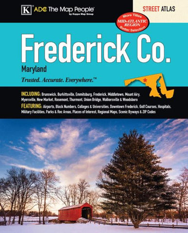Buy map Frederick County, MD, Street Atlas by Kappa Map Group