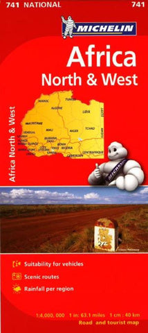 Buy map Africa, North and West (741) by Michelin Maps and Guides