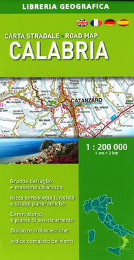 Buy map Calabria, Italy, Road Map by Libreria Geografica