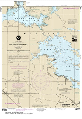 Buy map Western Kabetogama Lake (14995-11) by NOAA