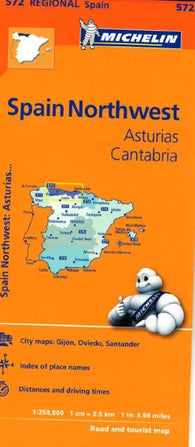 Buy map Asturias and Cantabria, Spain (572) by Michelin Maps and Guides