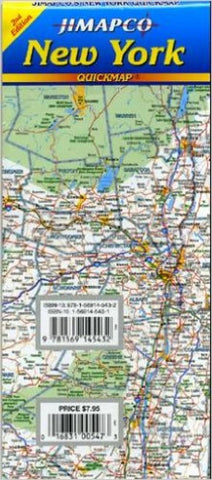 Buy map New York State, Quickmap by Jimapco