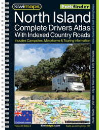 Buy map North Island, New Zealand, Drivers Atlas by Kiwi Maps