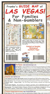 Buy map Frankos guide map of Las Vegas for families and non-gamblers by Frankos Maps Ltd.