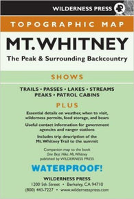 Buy map Mount Whitney, Calfornia by Wilderness Press