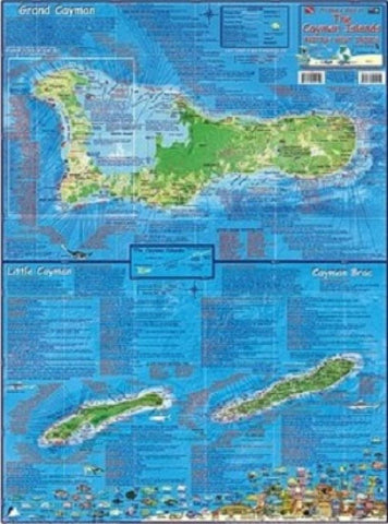 Buy map Caribbean Map, Cayman Islands, laminated, 2008 by Frankos Maps Ltd.