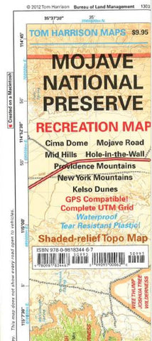 Buy map Mojave National Preserve, California by Tom Harrison Maps