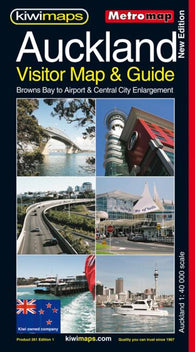 Buy map Auckland, New Zealand, Visitor and Tourist Metromap by Kiwi Maps