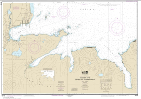 Buy map Sweeper Cove, Finger and Scabbard Bays (16476-11) by NOAA