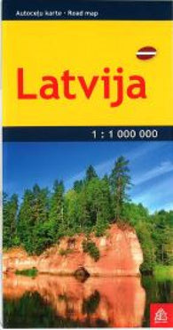 Buy map Latvia road map, pocket-size by Jana Seta