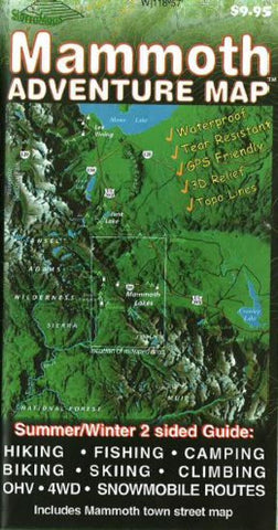 Buy map Mammoth Lakes, California Adventure Map by Sierra Map Company